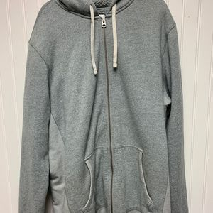 Gray lined hoodie Zip Up size XLT